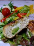アボカド&チーズin豆腐ハンバーグの断面