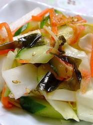 野菜いっぱいのサラダ漬け
