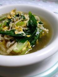 きのこ3種と小松菜のスープ