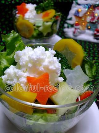雪のサラダ