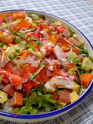 海鮮サラダちらし