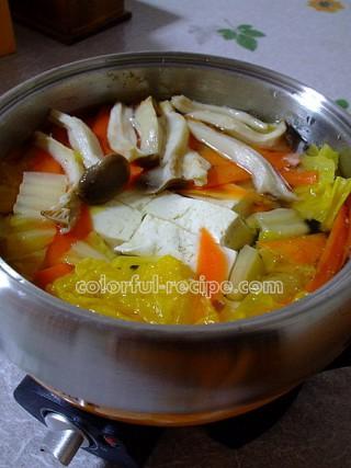 野菜たっぷりの湯豆腐鍋