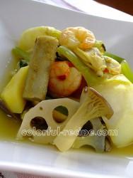 根菜とシーフードの腹満足スープ